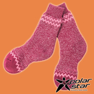 【PolarStar】羊毛保暖雪襪『酒紅...