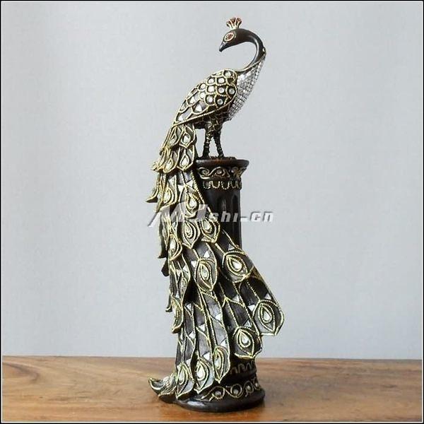 東南亞風格   歐式時尚創意    孔雀擺件
