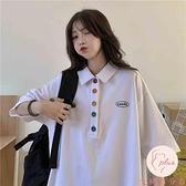 百搭短袖純棉上衣女顯瘦寬松時尚韓版學生半袖上衣【大碼百分百】