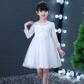 兒童禮服 花童禮服女兒童婚紗蓬蓬連身裙公主持人走秀表演服裝  萬客居