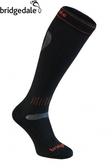 Bridgedale 英國 UF美麗諾輕量雪襪-長統 XL 黑/橘 547 登山襪子 健行襪 排汗襪 保暖襪 [易遨遊]