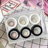 眼镜盒 簡約雙色透明伴侶盒