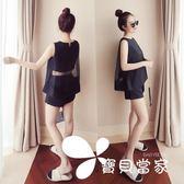 2018夏季新款省心搭配時髦洋氣套裝女時尚小香風短袖短褲兩件套潮