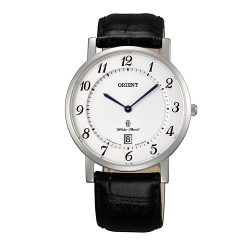 ORIENT 東方錶 SLIM系列 超薄簡約優雅石英錶/白/FGW0100JW