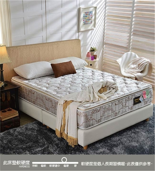 床墊 獨立筒-Ally愛麗-正三線-超涼感抗菌-乳膠蜂巢獨立筒床-雙人加大6尺-破盤價$9999
