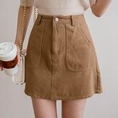 現貨-MIUSTAR 車線大口袋斜紋布褲裙(共3色,S-L)【NJ0163】