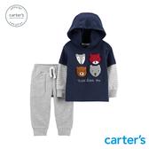 【美國 carter s】森林動物連帽上衣2件組套裝-台灣總代理