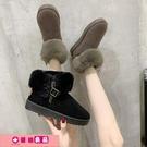 雪靴女 大碼41一43加厚短筒棉鞋女冬季...