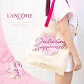 蘭蔻 LANCOME 粉色玫瑰 帆布包【櫻桃飾品】【32314】