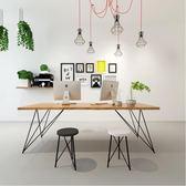 電腦書桌北歐極簡辦公桌實木臺式家用電腦桌會議桌簡約現代書桌長方形餐桌【巴黎世家】