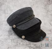 英倫貝雷帽帽子女日繫畫家八角帽【南風小舖】