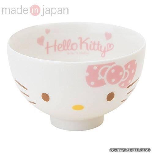 日本製 日本限定 美濃燒 Hello Kitty 大臉 陶瓷茶碗