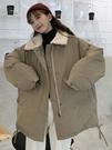 工裝外套 工裝棉服女韓版寬鬆冬裝加厚大衣復古港味ins羊羔毛外套【全館免運】