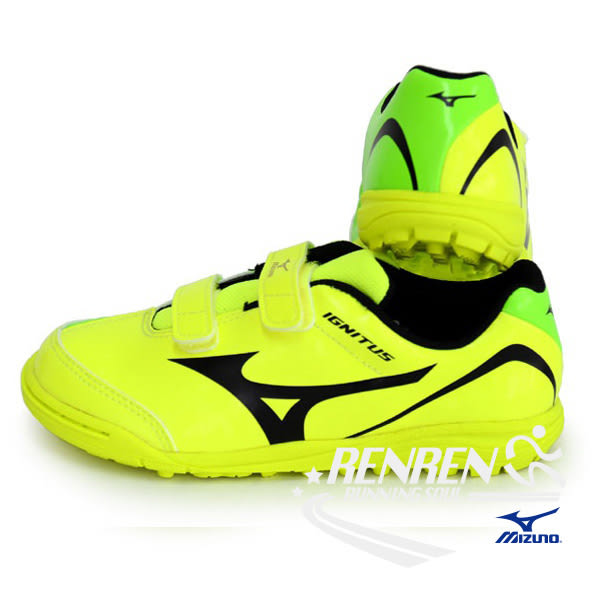 MIZUNO 美津濃 IGNITUS 4 KIDS AS 兒童足球鞋 (螢光綠) P1GE163345
