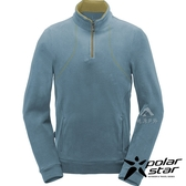 PolarStar 兒童 高領拉鍊保暖上衣『灰藍』 P18201 戶外│休閒│登山│機能衣│刷毛衣│童裝│兒童