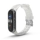 適用於小米4/5智慧手環表帶 米4/5代閃粉矽膠車線款替換腕帶現貨 【母親節禮物】