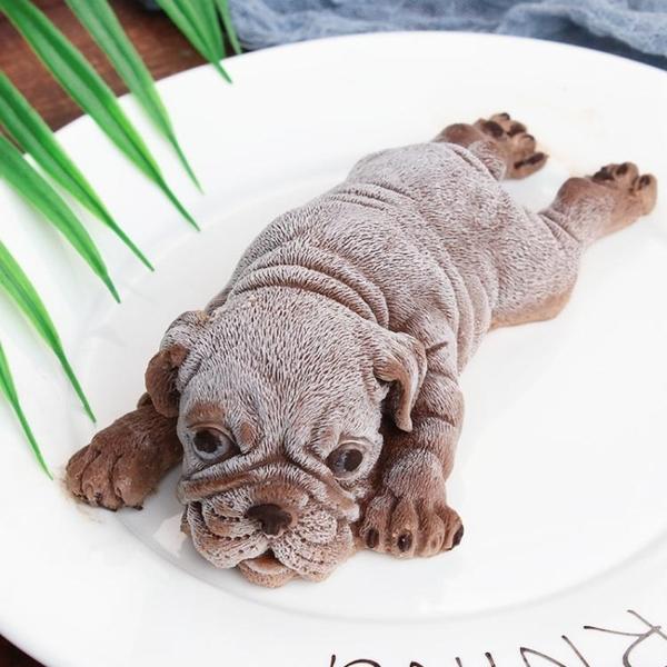 網紅沙皮狗慕斯模具烘培小奶狗巧克力霜淇淋小狗3d立體髒髒狗蛋糕 英雄聯盟