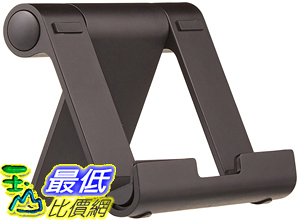 [106美國直購] AmazonBasics Multi-Angle Portable Stand for Tablets, E-readers and Phones - Black