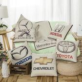 快速出貨-抱枕被汽車抱枕被子兩用車標靠墊多功能辦公室沙發棉麻枕頭xw