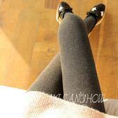 秋冬季打底褲 新款豎條紋外穿內搭褲 韓版加絨加厚螺紋棉連褲襪褲