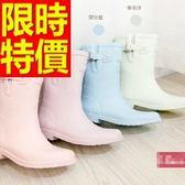 雨靴-女雨具防水浪漫防滑女中筒雨鞋54k16[時尚巴黎]