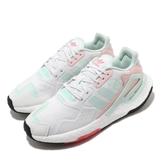 adidas 休閒鞋 Day Jogger W 白 綠 粉紅 女鞋 Boost 中底 網布鞋面 運動鞋 【PUMP306】 FY3018