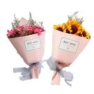 【BlueCat】第二代粉紅紙筒BEST WISH迷你手作乾燥花小花束 (紙盒裝)