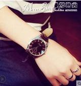 手錶大錶盤韓版時尚簡約女錶潮皮帶男錶學生休閒情侶超薄防水石英手錶   曼莎時尚