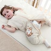 嬰兒睡袋秋冬加厚寶寶睡袋春秋彩棉分腿睡袋兒童新生兒防踢被四季