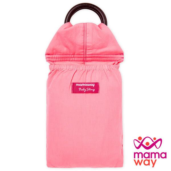 【mamaway媽媽餵】水洗色超柔軟純色育兒揹巾(石榴紅) 背帶