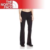 【The North Face 女 LOGO風格長褲《黑》】AZFJ/運動長褲/舒適/防寒