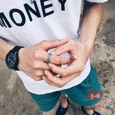 戒指男 潮人創意戒指男士個性復古麻繩指環霸氣學生禮物日韓單身戒子開口 多款可選