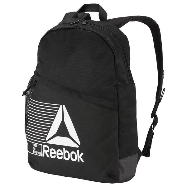 REEBOK ON-THE-GO BACKPACK WITH STORAGE 後背包 雙肩 休閒 水壺袋 黑 【運動世界】CE0926