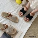 PAPORA軟Q兩穿式涼鞋拖鞋KK4778黑/米