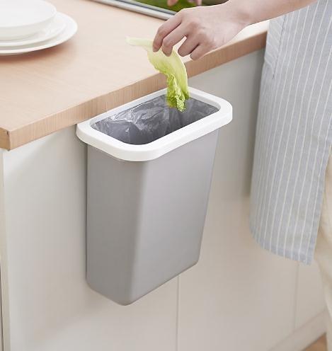 家用櫃門垃圾桶廚房懸掛式廚余垃圾收納箱創意隨手垃圾儲物盒掛式【快速出貨】