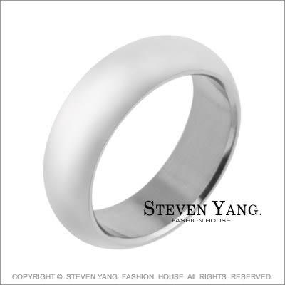 鋼戒指STEVEN YANG西德鋼飾「素面厚實」時尚簡約個性款 可加購刻字