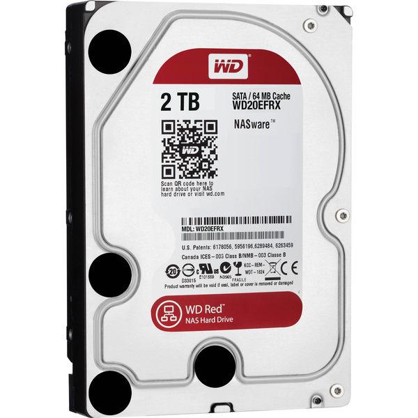 WD紅標 NAS 3.5吋 2TB SATA3 NAS 專用硬碟(WD20EFRX)