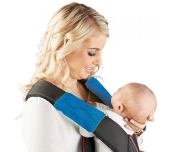 紐西蘭 Mum 2 Mum 機能型神奇口水墊-藍 口水墊x2入 背巾 背帶