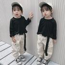 女童秋裝套裝 純色T恤洋氣小女童秋季工裝時尚兒童裝兩件套 KV2742 【野之旅】