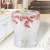 歐宴智能感應式垃圾桶自動 時尚客廳臥室家用收納桶 創意樹脂垃圾筒 LR5294【艾菲爾女王】