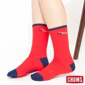 CHUMS 日本 休閒造型運動襪 單雙售 紅色 CH061004R013