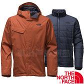 The North Face TNF 2UC3-UBC深咖 男防水兩件式保暖外套3合1透氣夾克/防風保暖大衣/機能風衣