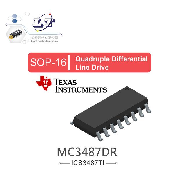 『堃喬』TI MC3487DR SOP16 Quadruple Differential Line Drive『堃邑Oget』