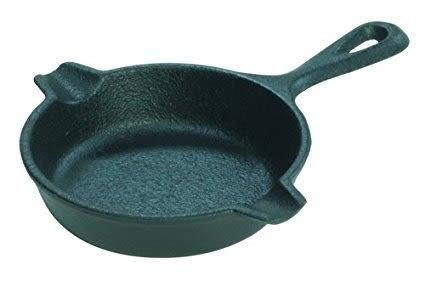 Lodge Spoon Rest迷你3.5吋鑄鐵鍋平底煎鍋/煙灰缸