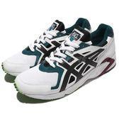 【五折特賣】Asics 慢跑鞋 Gel-DS Trainer OG 白 黑 綠 輕量舒適 透氣避震 運動鞋 男鞋【PUMP306】 H704Y0190