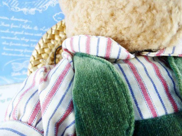 【震撼精品百貨】日本日式精品_熊_Bear~絨毛玩偶-泰迪熊-綠背心