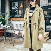 風衣外套-寬鬆顯瘦立領中長款女夾克73hu67[時尚巴黎]