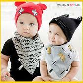 圍兜 寶寶卡通香蕉純棉雙面口水巾 三角巾