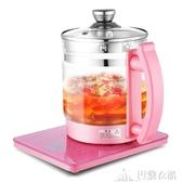 養生壺全自動加厚玻璃多功能電熱燒水迷你花茶壺煮茶器養身220V -巴黎衣櫃
