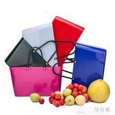 時尚家用環保手提菜籃子包購物籃野餐籃塑膠買菜ins辦公室收納籃ATF 三角衣櫃